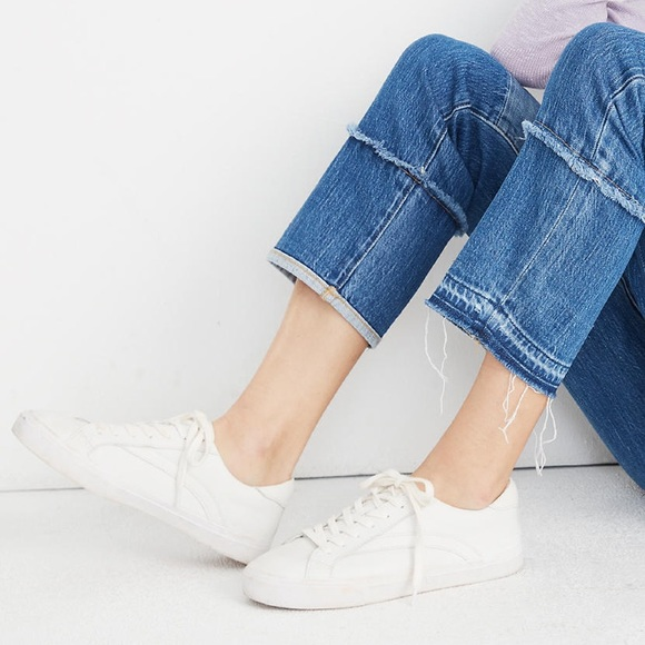 Madewell Shoes - Sidewalk Low-Top Leather Cloud Sneakers (White)